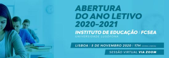 Abertura do ano letivo 2010-2021